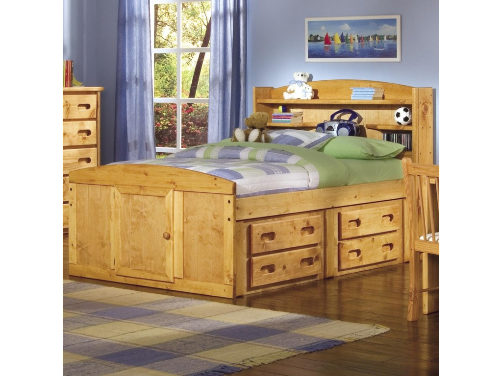 Trendwood BunkhouseTwin Palomino Captain's Bed