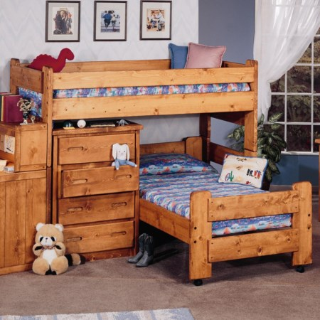 Twin/Twin Apache Loft Bed & Caster Bed