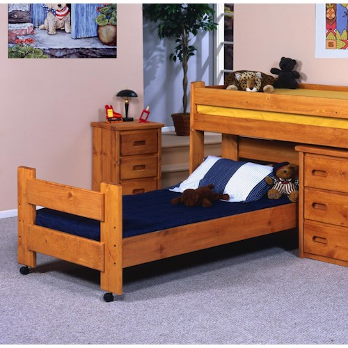 Trendwood Bunkhouse Twin Caster Youth Bed