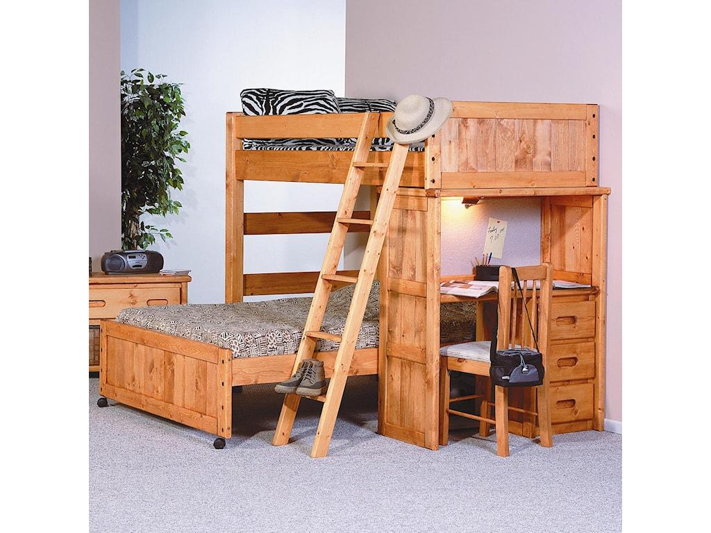 Trendwood BunkhouseTwin / Full Roundup Loft Bed