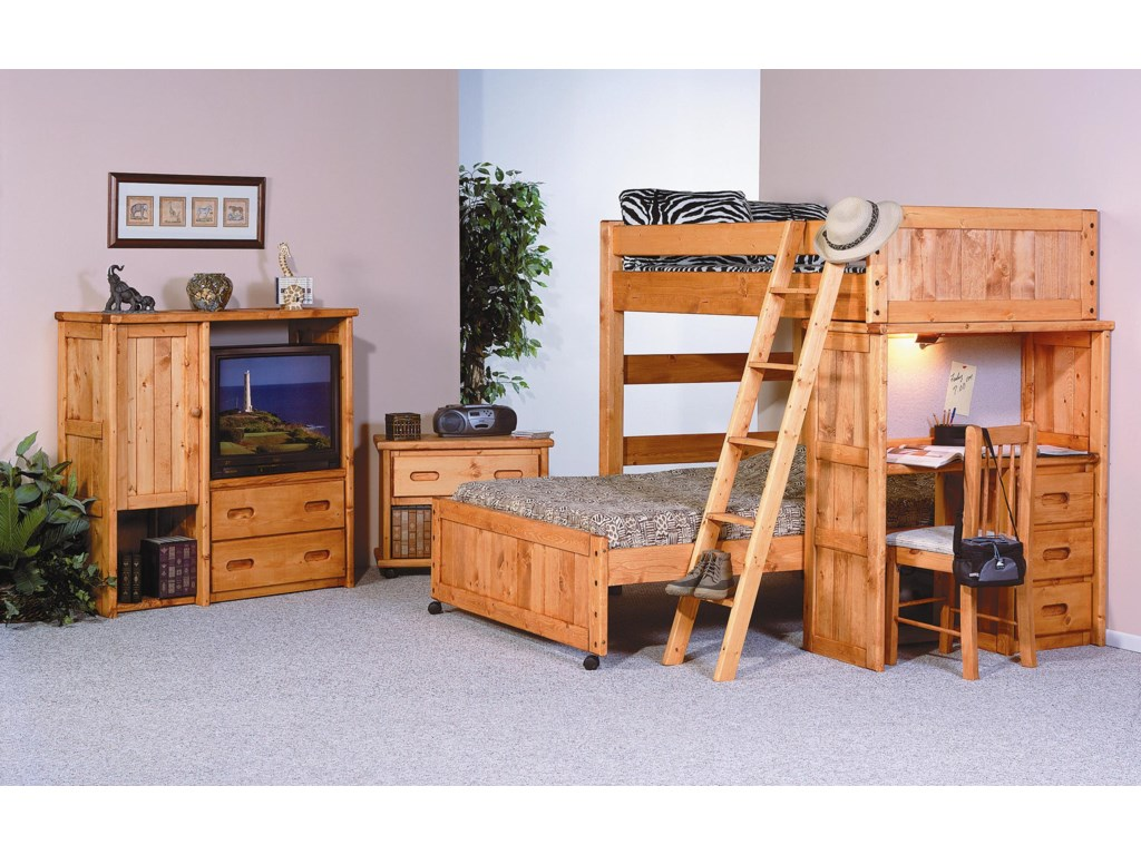Shown in Room Setting with TV Armoire and Entertainment Stand