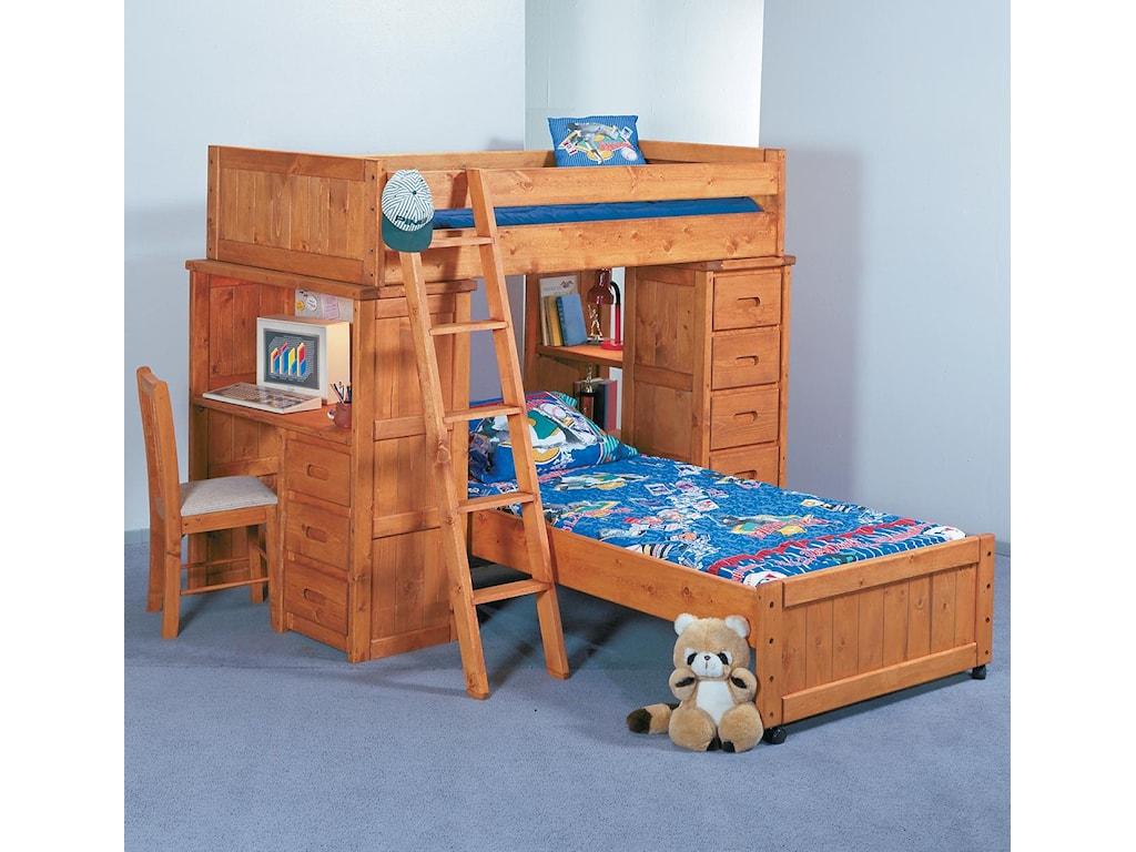 Trendwood BunkhouseTwin/Twin Roundup Modular Loft Bed