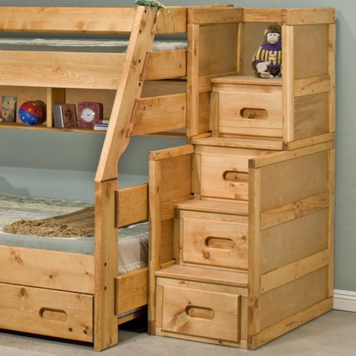 Trendwood Bunkhouse 4 Drawer Stairway Chest