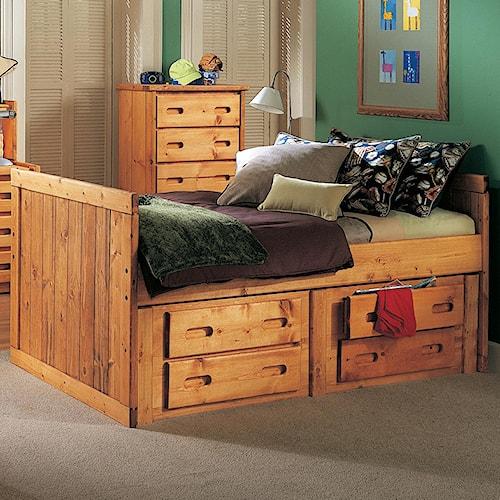 Trendwood Bunkhouse Twin Captains Bed