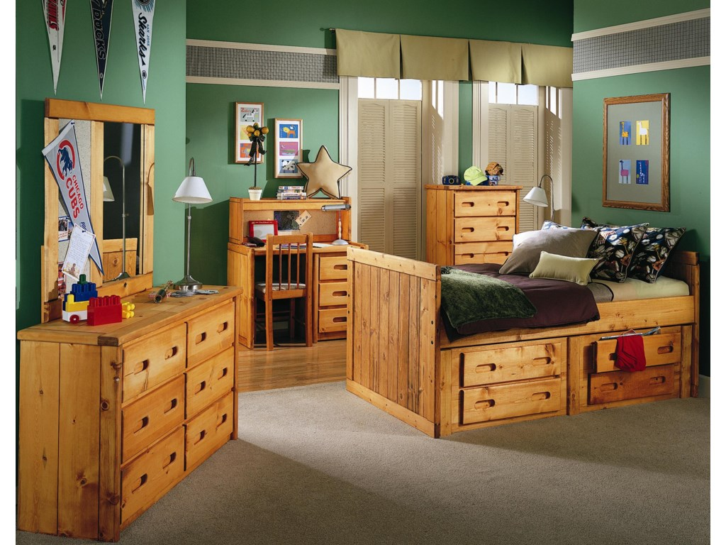 Trendwood BunkhouseTwin Roper Captain's Bed