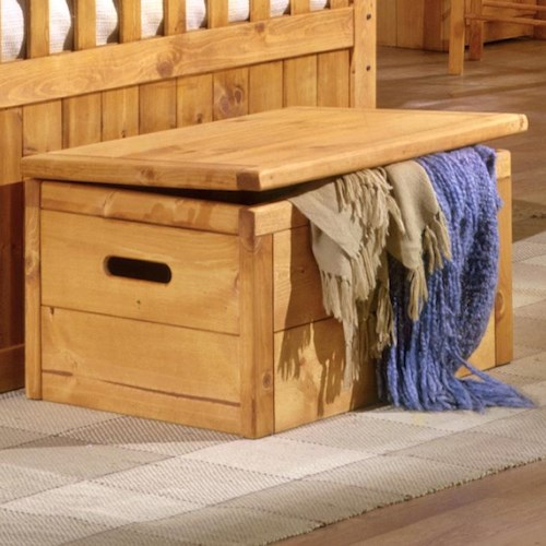 Trendwood Bunkhouse Toy Chest with Hinge Top and Handles