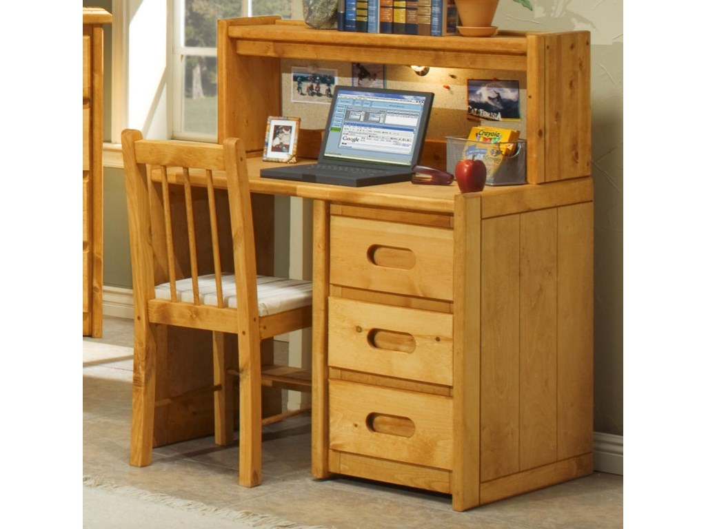 Trendwood BunkhouseStudent Desk with Corral Hutch