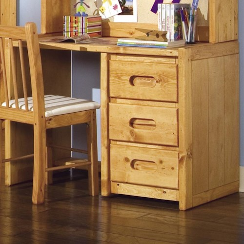 Trendwood Bunkhouse Single Pedestal Student Desk