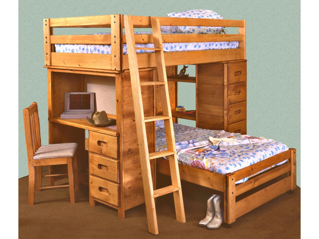 Wood Twin Loft Bed With Desk Home Design Ideas