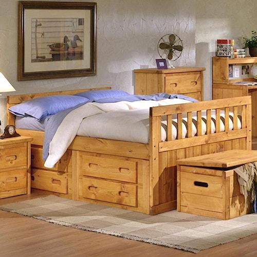 Trendwood Bunkhouse Twin Bayview Captain's Bed