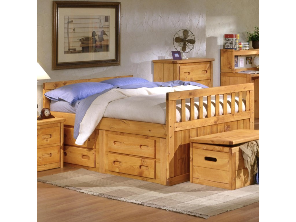 Trendwood BunkhouseFull Bayview Captain's Bed