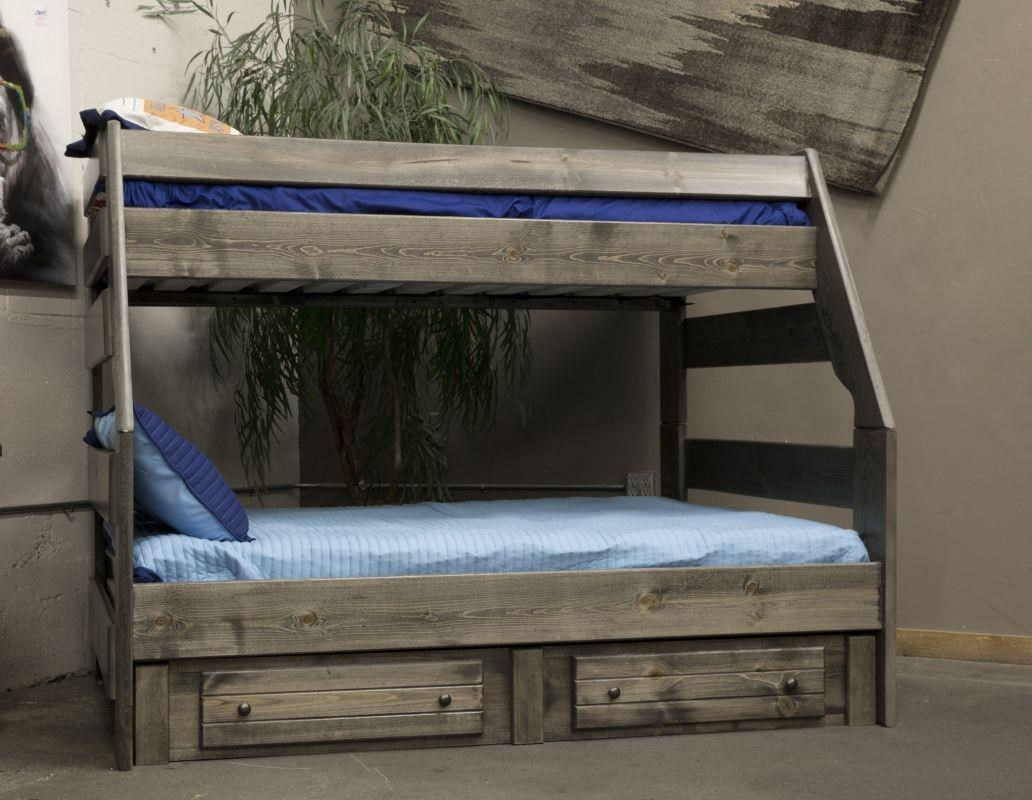 trendwood high sierra twin over full bunk bed