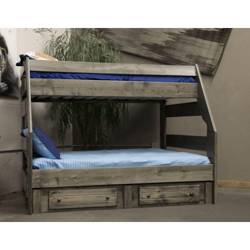 Trendwood High Sierra Twin Over Full Bunk Bed Boulevard
