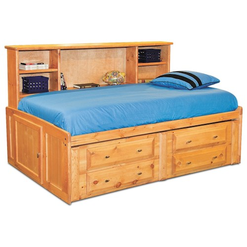Trendwood Laguna  Full Roomsaver Bed with Four Drawer Underdresser