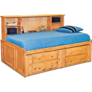 Trendwood Laguna Full Roomsaver Bed With Four Drawer