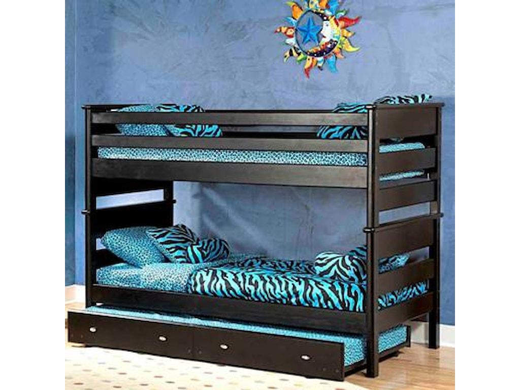 Trendwood Laguna Twin Twin Bunk Bed W Trundle Sam Levitz