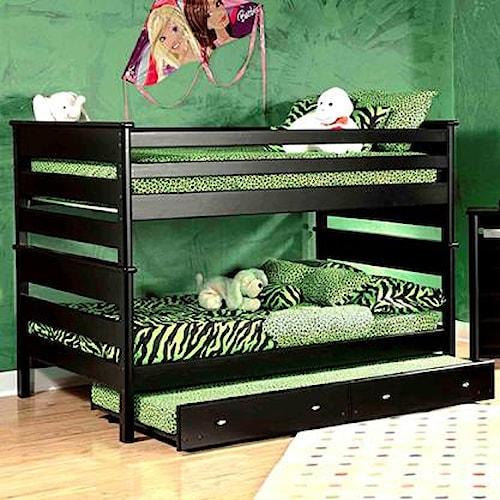 Trendwood Laguna  Full/Full Bunk Bed w/ Trundle