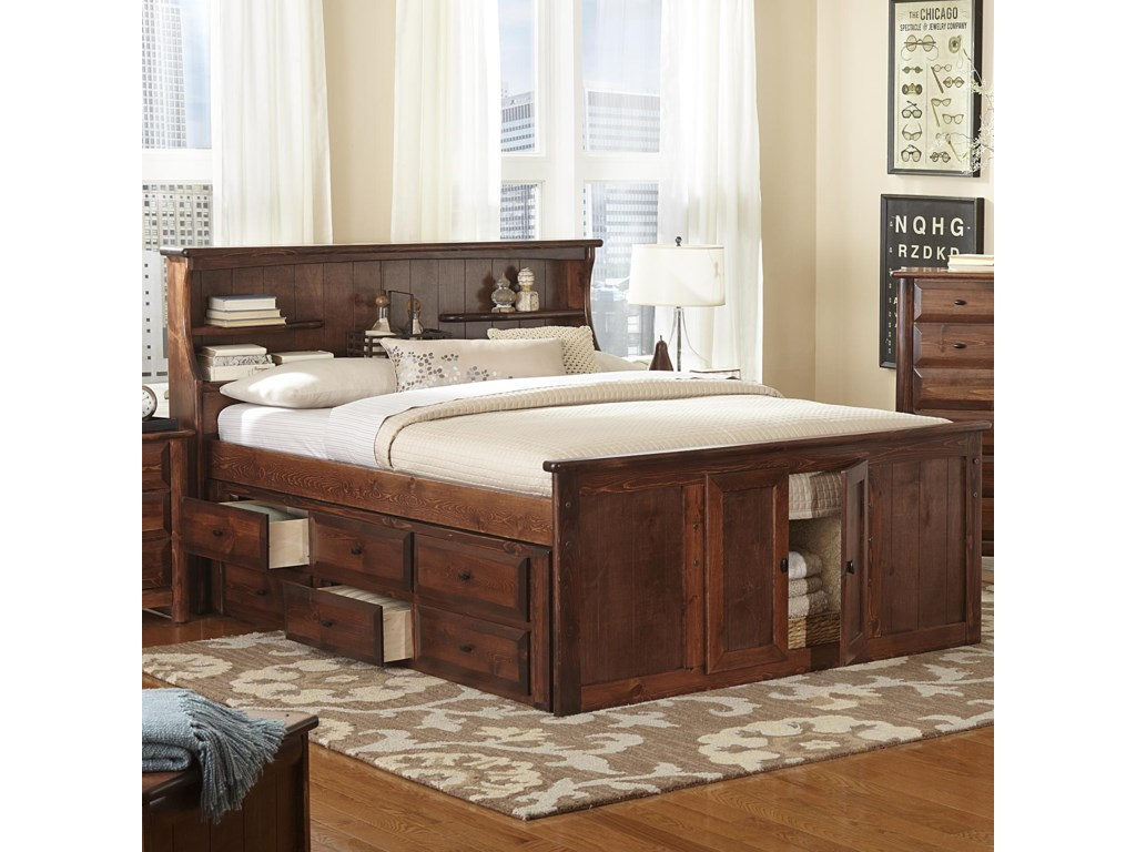 Trendwood LagunaQueen Bookcase Bed
