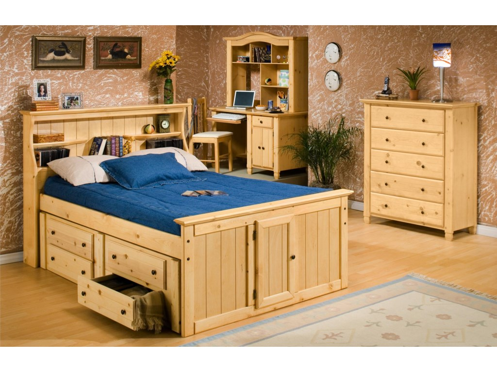 Trendwood Sedona Full Bookcase Bed