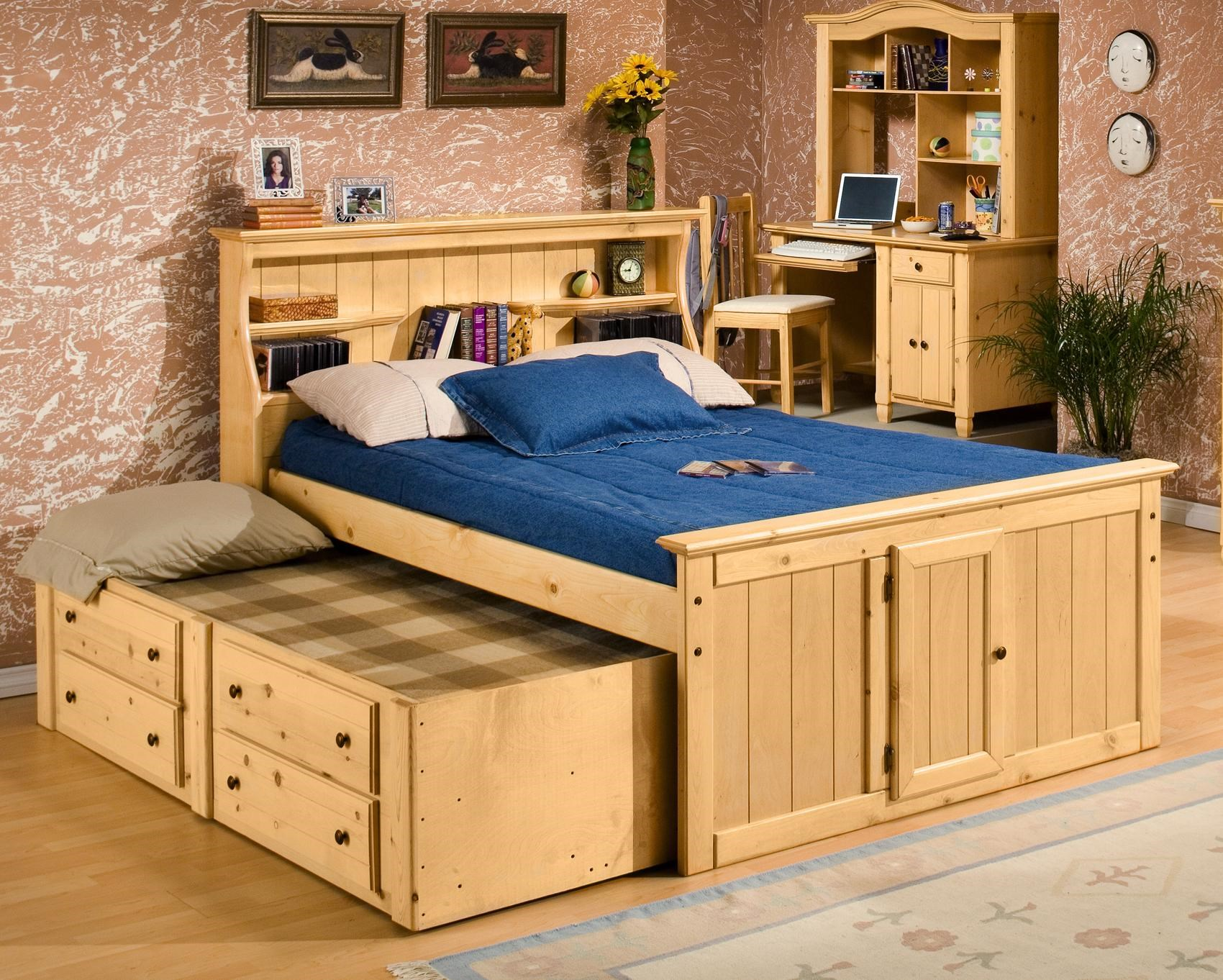 Trendwood Sedona Twin Bookcase Bed W Trundle Sheely S