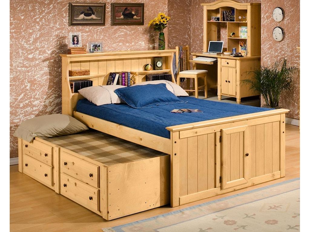 Trendwood Sedona Twin Bookcase Bed