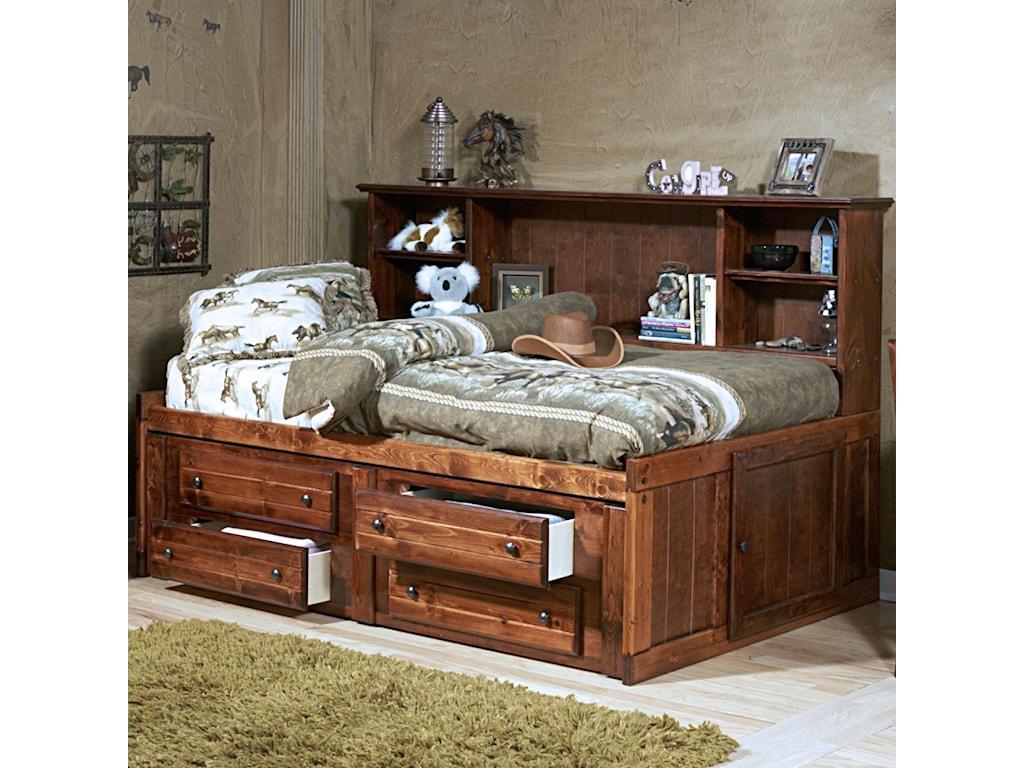 Trendwood Sedona Twin Cheyenne Bookcase Bed
