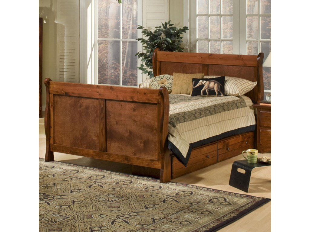 ivy bed br product sleigh league dark wood beds ivyleague cherry pc twin