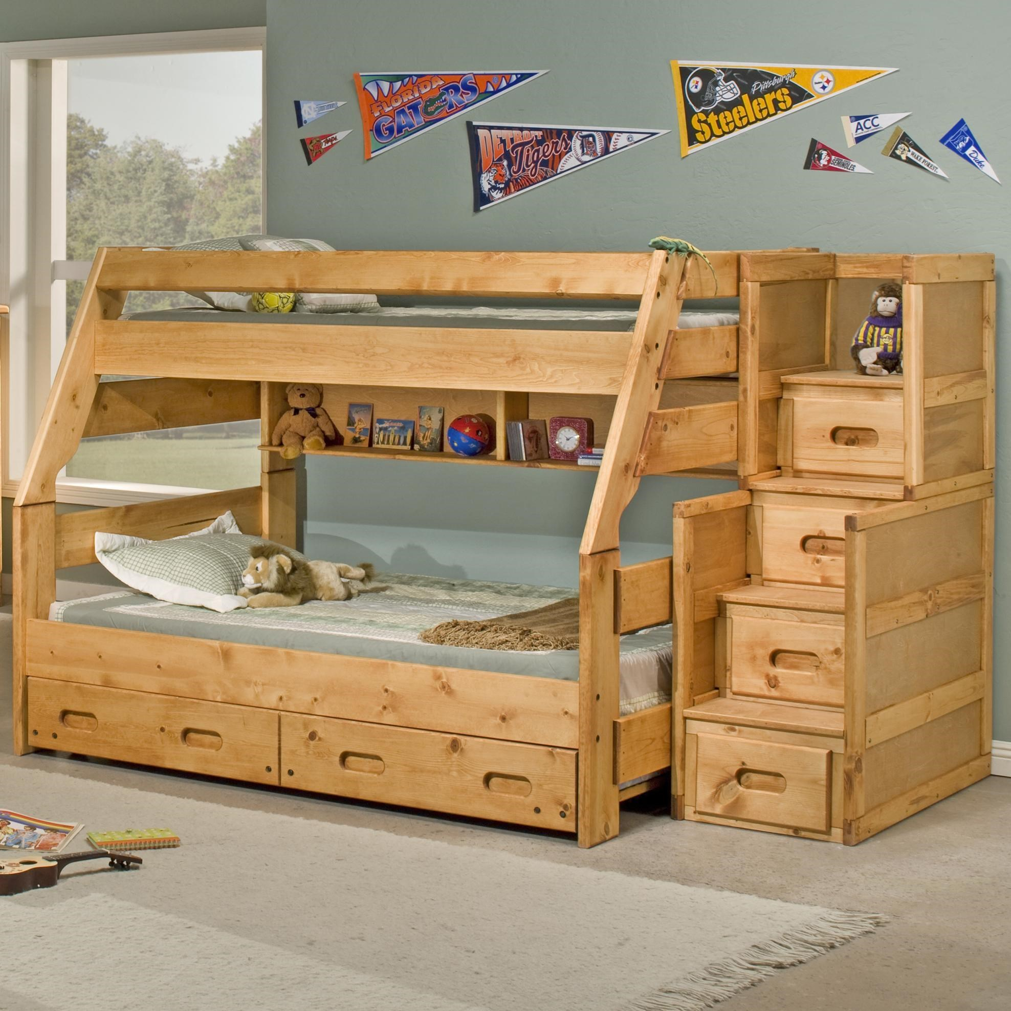 Trendwood Sedona Twin High Sierra Bunk Bed   Dunk U0026 Bright Furniture   Bunk  Bed