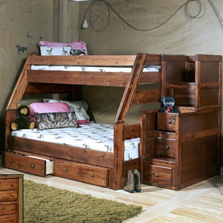 Sedona Bunk with Storage Stairs