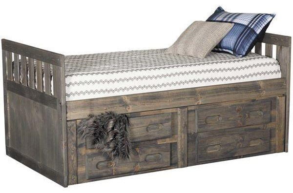 Picture of: Trendwood Sedona 4722 4816 4431 70 72 75 4826 Full Captain S Bed With Storage Dresser Mirror Nightstand And Chest Package Sam Levitz Furniture Bedroom Groups