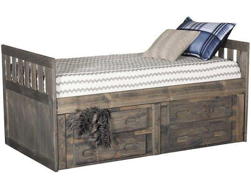 Trendwood SedonaTwin Captain's Bed with Storage Package
