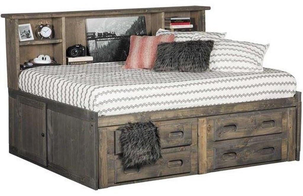 Image of: Trendwood Sedona 4457 59 31 4126 4795fu Full Cheyenne Storage Bed Sam Levitz Furniture Panel Beds