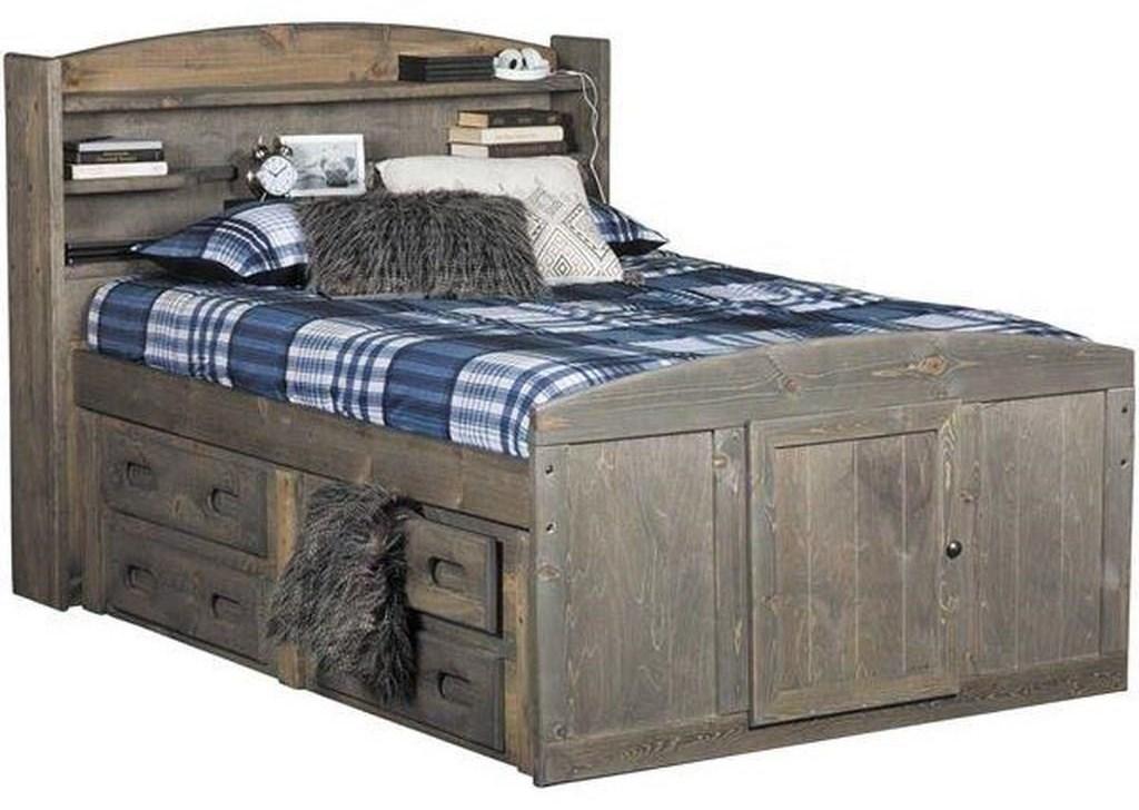 Trendwood Sedona 4420 21 22 31 4795tu Twin Bookcase Bed With 4 Drawer Underneath Storage Sam Levitz Furniture Bookcase Beds