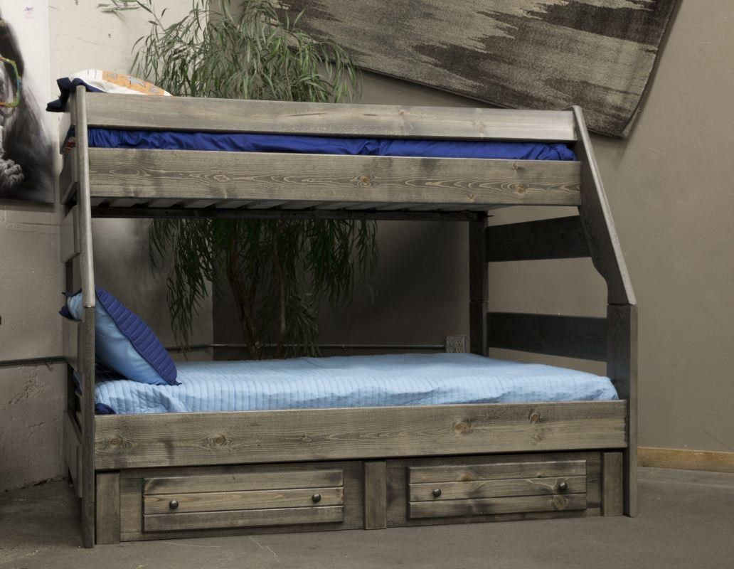 Picture of: Trendwood Sedona 4720 21 4795tu 4795fu 4466 Twin Top Full Bottom Bunk Bed With Trundle Bed Sam Levitz Outlet Bunk Beds
