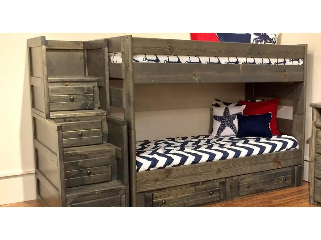 4466 4453 Full Bunk Bed With Trundle