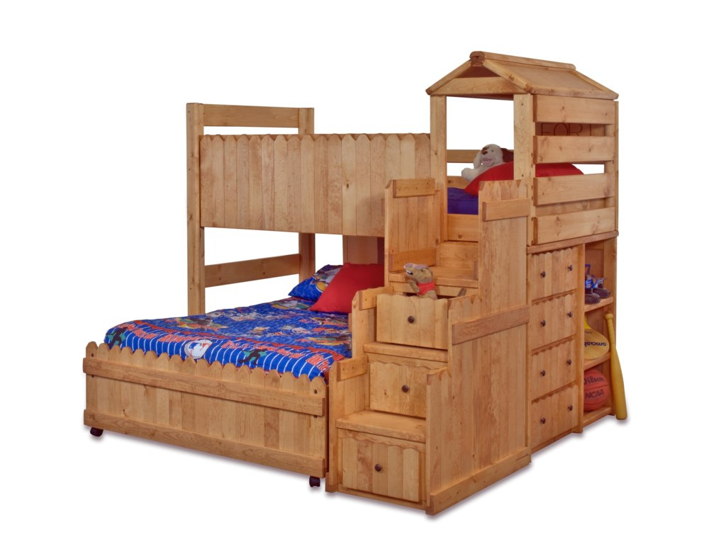 Trendwood The FortTwin/Full Loft Bed