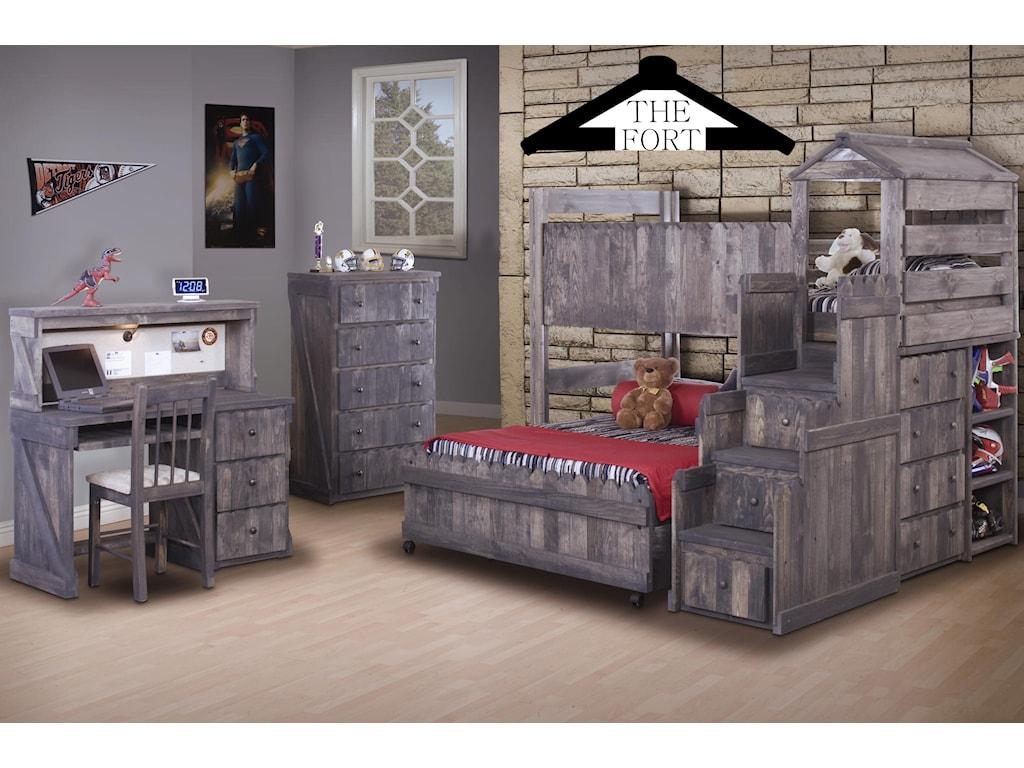 Trendwood The FortTwin/Full Loft Bed