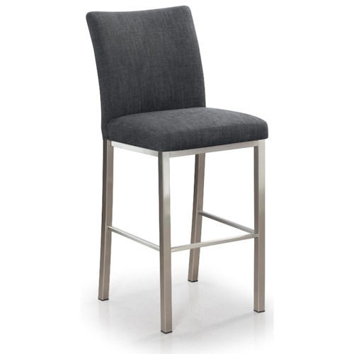 Trica Contemporary Bar Stools Biscaro Upholstered Stationary Bar Stool