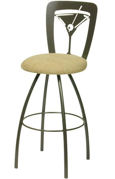 Trica Contemporary Bar Stools Martini Swivel Bar Stool