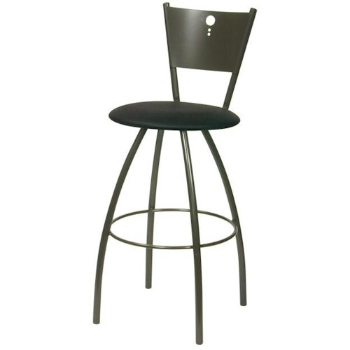 Trica Contemporary Bar Stools Tiptop Swivel Bar Stool