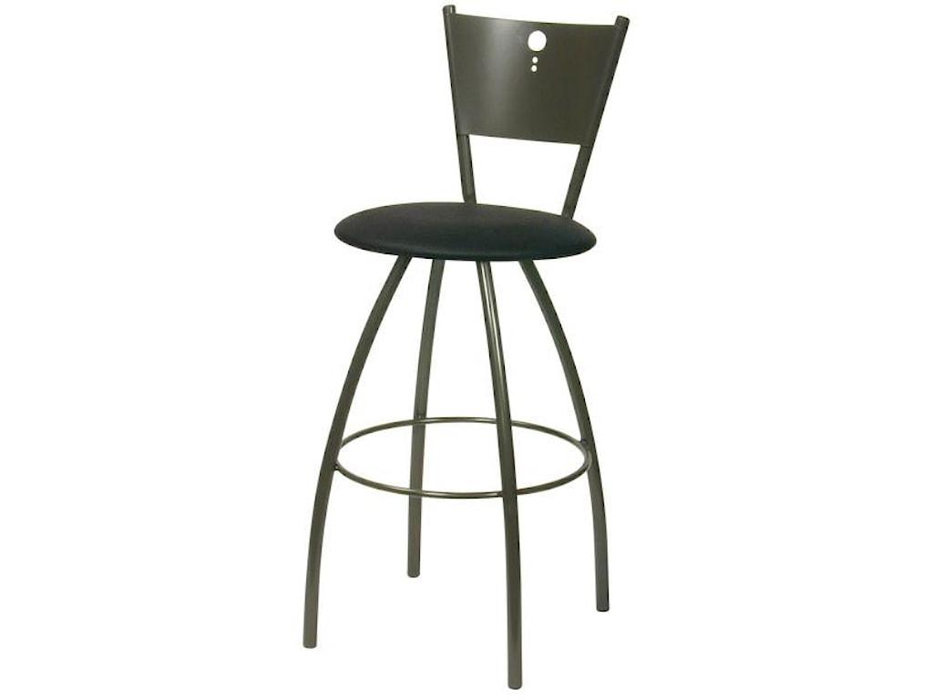 Trica contemporary seating tiptop swivel bar stool