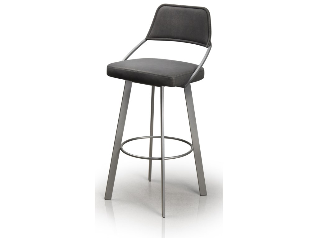 trica contemporary seating wish swivel upholstered bar stool