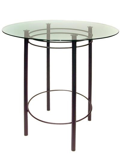 Trica Contemporary Tables Astro Round Table With Glass Top