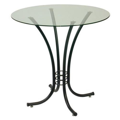 Trica Contemporary Tables Erika Round Pedestal Table with Glass Top