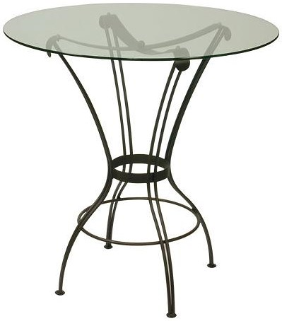 Trica Contemporary Tables Transit Round Pedestal Table with Glass Top