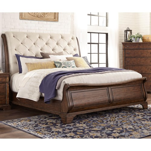 Trisha Yearwood Home Collection by Klaussner 920- Uphl Bed ...