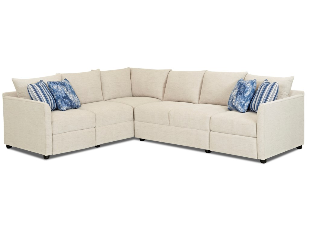 Trisha Yearwood Home Collection by Klaussner Atlanta2 Pc Power Hybrid Reclining Sectional Sofa