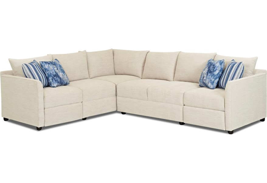 Hybrid Reclining Sectional Sofa