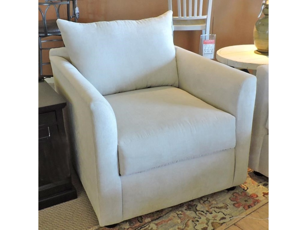 Trisha Yearwood Home AtlantaTransitional Chair with Tuxedo Arms