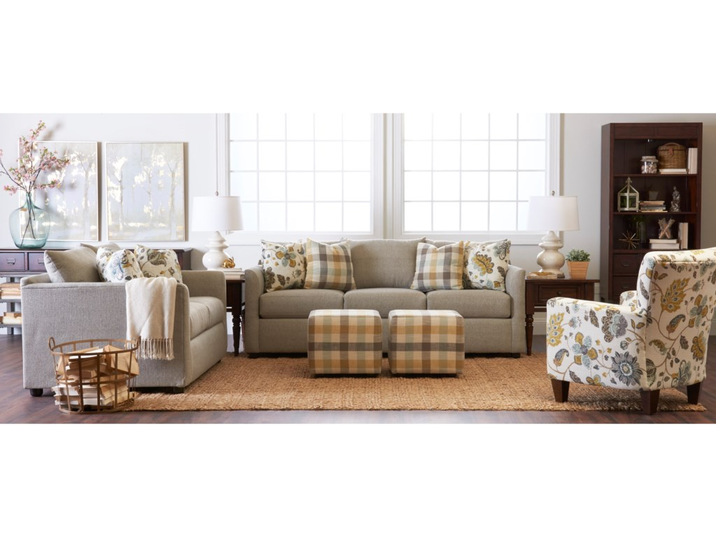 Trisha Yearwood Home Collection by Klaussner AtlantaStationary Living Room Group